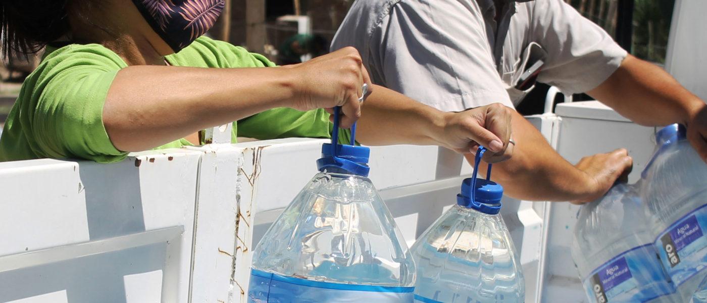 3.000 litros de agua para las familias afectadas por el terremoto