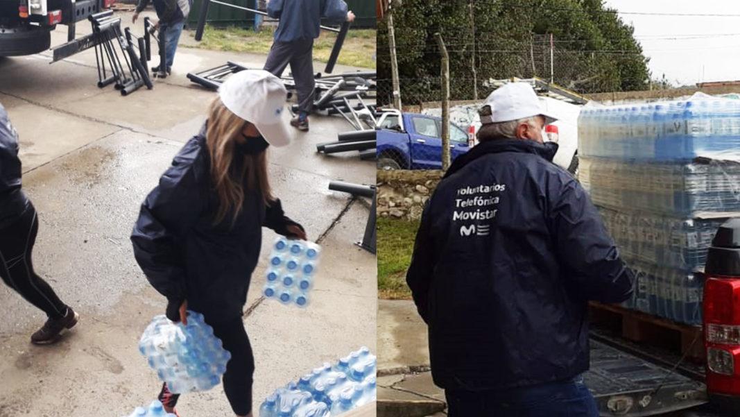 Donación de insumos para los damnificados por los incendios